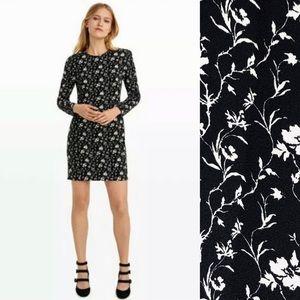CLUB MONACO Floral Dress Long Sleeves 6